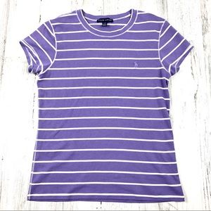 Vintage Ralph Lauren striped tee purple medium